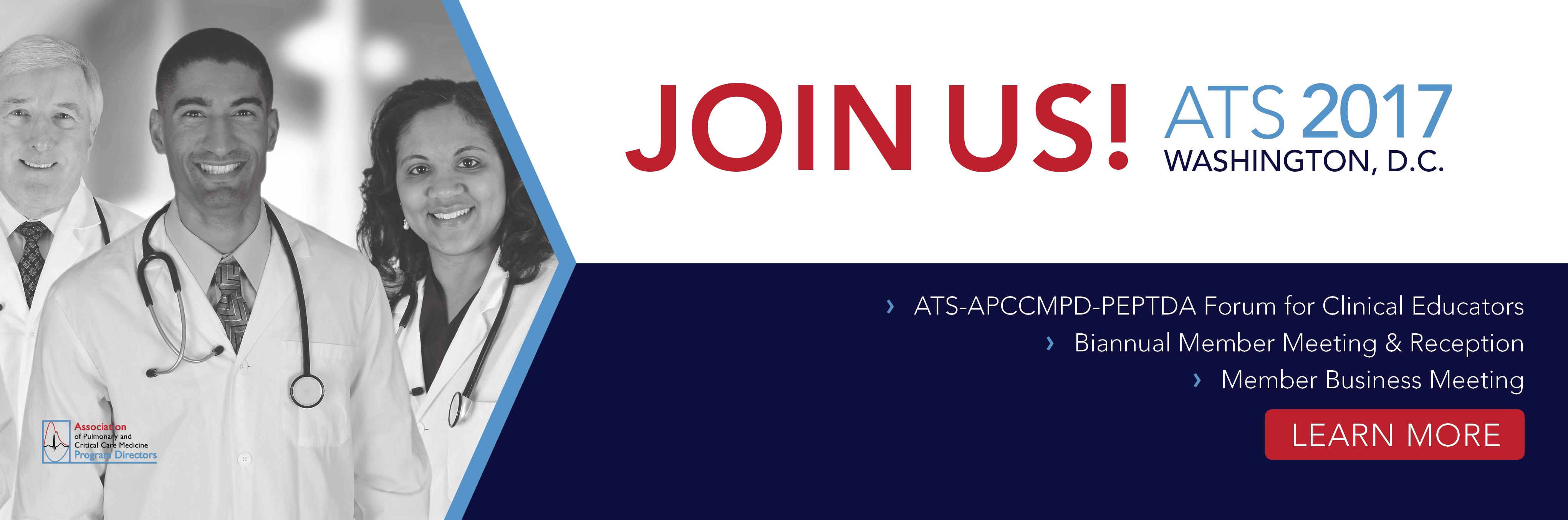 Join Us at ATS 2017